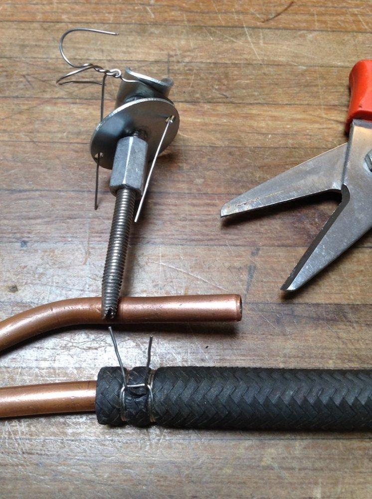 Hose Crimping Tool >> Clever homemade hose clamp & tool   Norton Commando ...