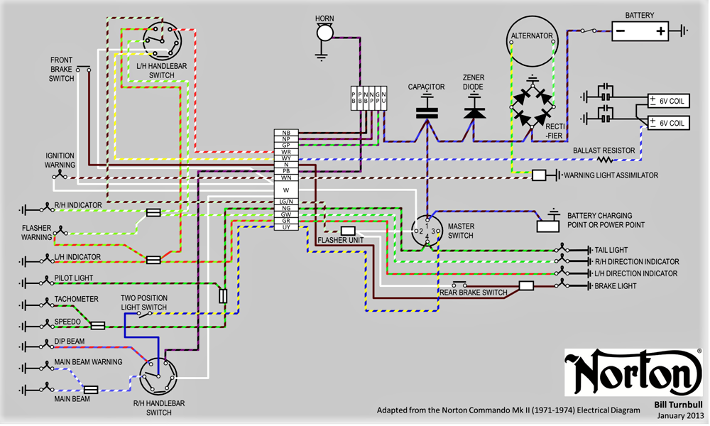 sparx wiring diagram for lights 850 electrical upgrades access norton forums  850 electrical upgrades access norton