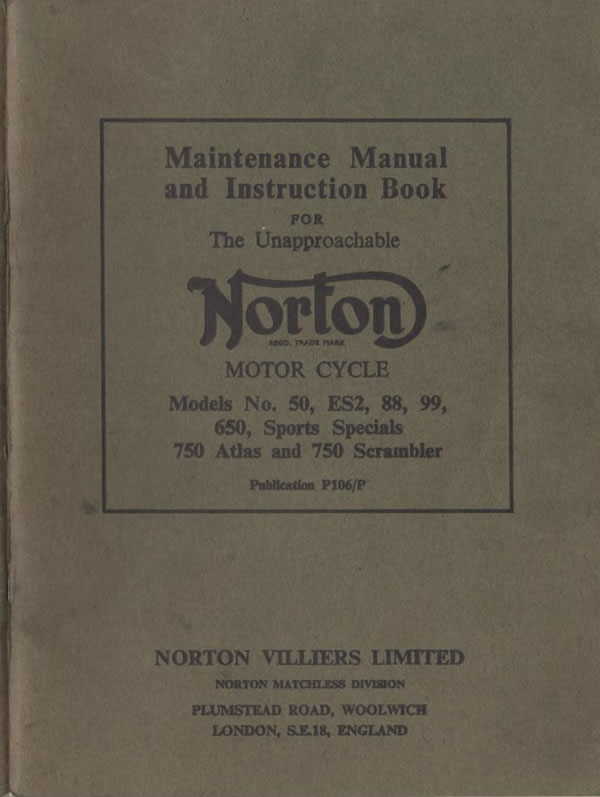 Early Norton Wiring Diagrams