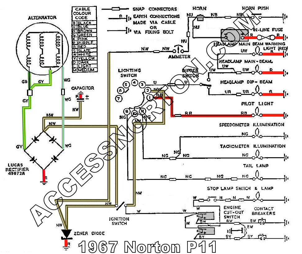 Wiring Diagram Norton Atlas Wiring Diagram Schematics