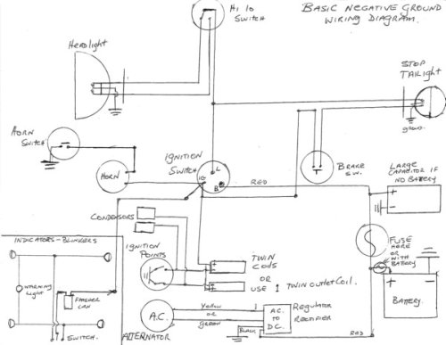 norton atlas wiring diagram 'homemade' wiring harness | norton commando motorcycle forum
