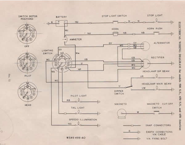 norton atlas wiring diagram early norton wiring diagrams | norton commando motorcycle ... norton mercury wiring diagram #2